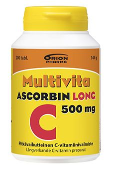 Multivita Ascorbin Long 500 mg 200 tabl.